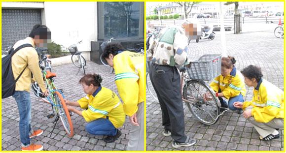 S・Bデー(セーフティー・バイシクル・デー)における街頭啓発活動の実施