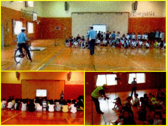 金山小学校における交通安全教室の開催