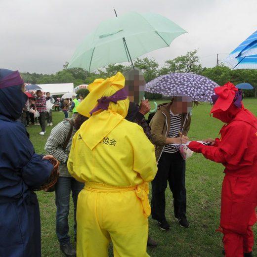 「余野公園つつじ祭り」における交通安全啓発活動の実施