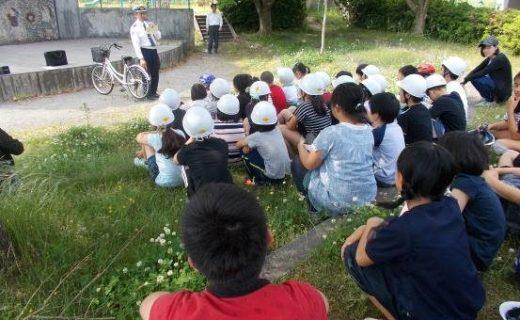 亀山市立昼生小学校における交通安全教室の実施