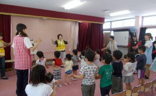 亀山市立加太保育園における交通安全教室の実施