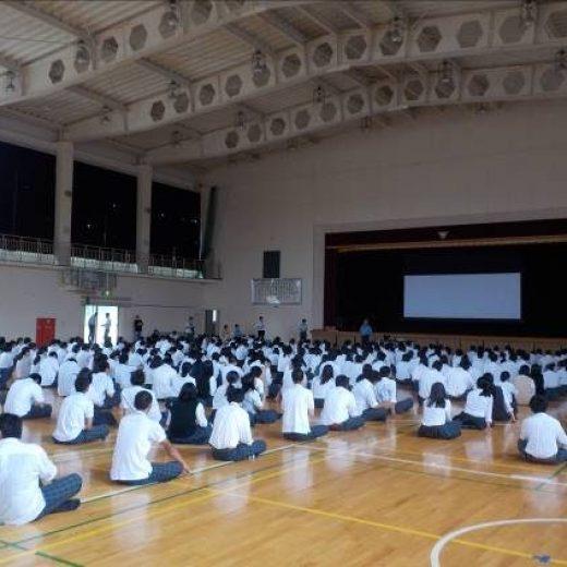 三重県立紀南高校における交通安全教室の実施