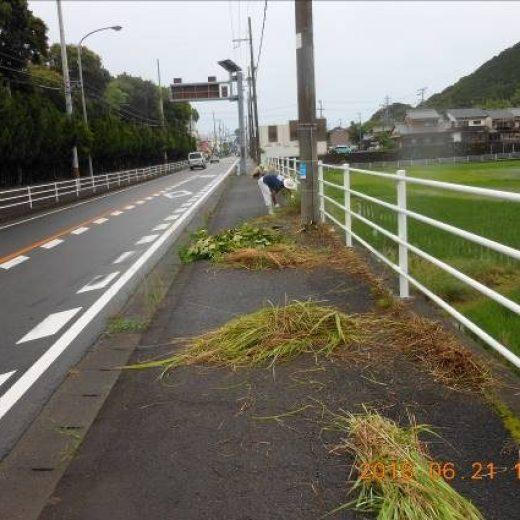 熊野市井戸町内における通学路環境整備の実施