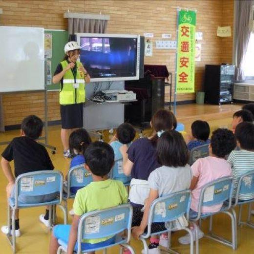 桑名市立城東小学校における交通安全教室の実施