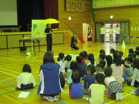 名張市立桔梗が丘小学校における交通安全教室の実施