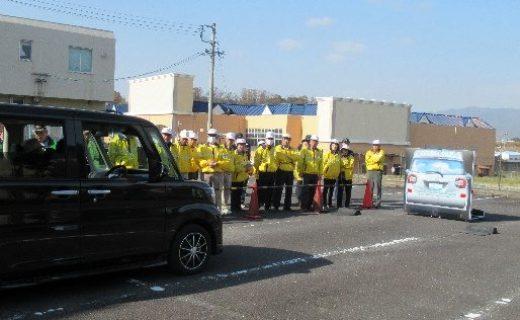安全運転サポート車(サポカー)の衝突回避実験への参加