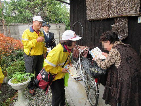上野池町地区における高齢者宅訪問