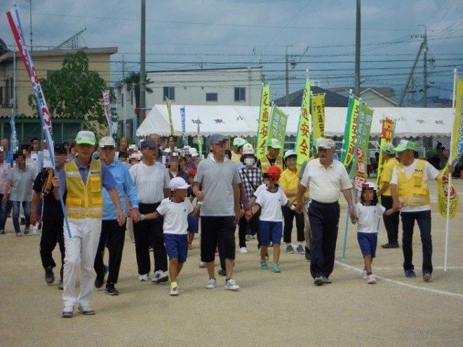 桑名2019.09.28桑名市立城東小学校での広報啓発活動